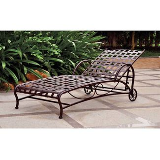 Santa Fe Nailhead Iron Multi Position Chaise Lounge